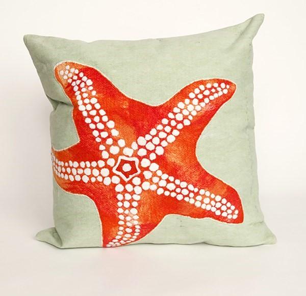 Seafoam, Orange, Green (4141-16) Beach / Nautical pillow