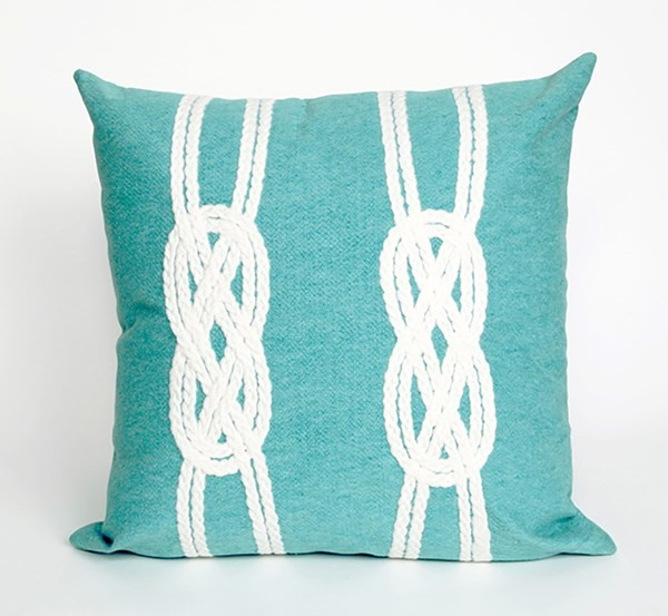 Aqua, White (4142-04) Outdoor / Indoor pillow