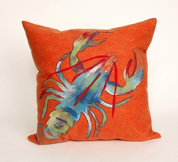 Orange, Blue, Green, White (4153-17) Outdoor / Indoor pillow