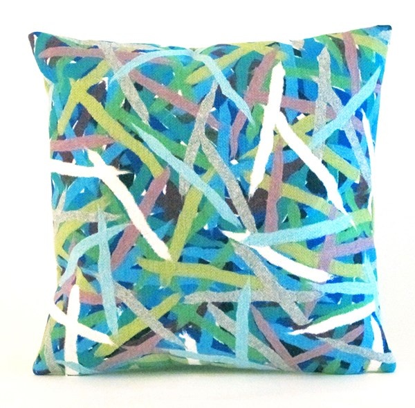 Blue, Navy, Green, Purple (4161-94) Outdoor / Indoor pillow