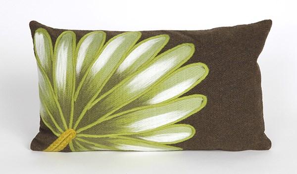 Chocolate, Green, White (4168-19) Outdoor / Indoor pillow