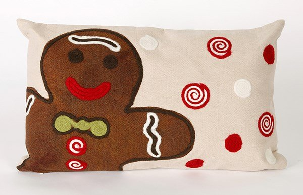 Chocolate, Black, Beige, Green, Red (4204-19) Outdoor / Indoor pillow
