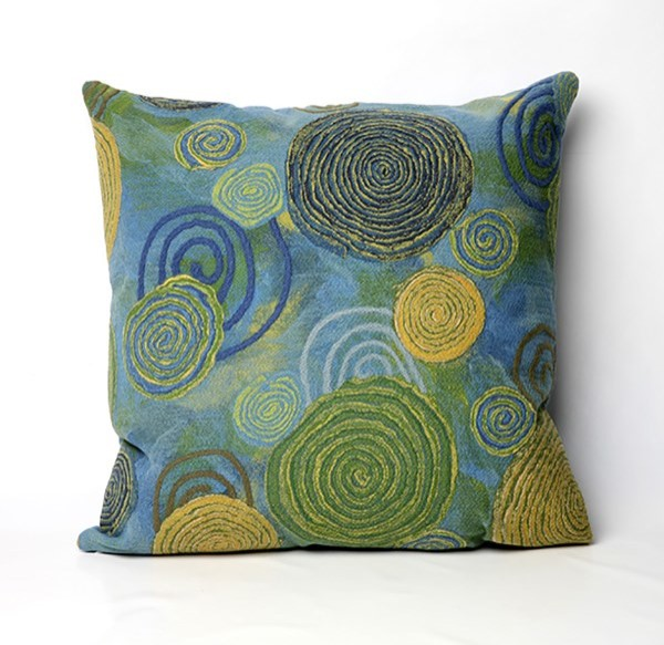 Blue, Green, White, Yellow (4109-06) Outdoor / Indoor pillow
