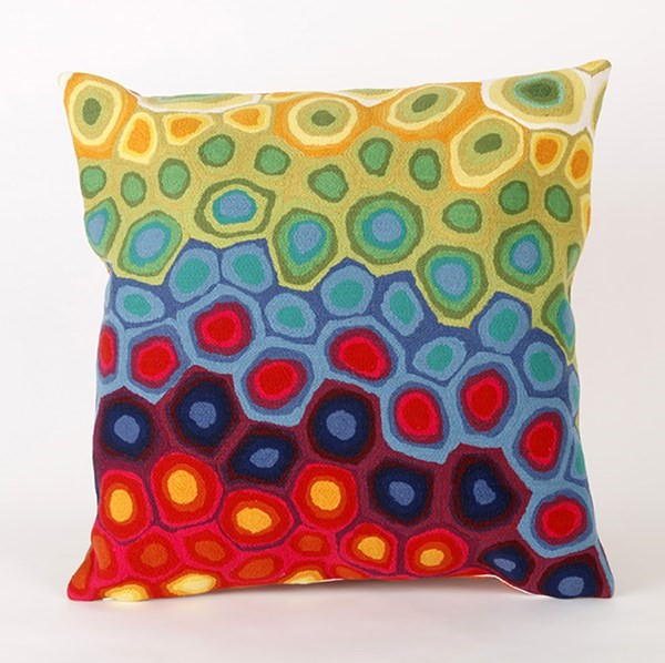 Red, Blue, Green, Orange, Yellow (4127-44) Abstract pillow