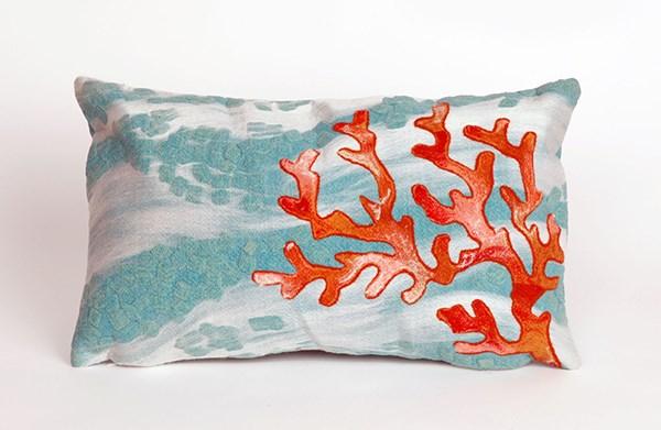Blue, Ivory, Orange (4158-04) Outdoor / Indoor pillow