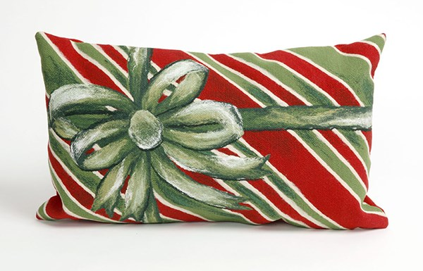 Green, Red, White (4202-06) Outdoor / Indoor pillow