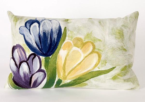 Blue, Purple, Yellow (3208-06) Outdoor / Indoor pillow