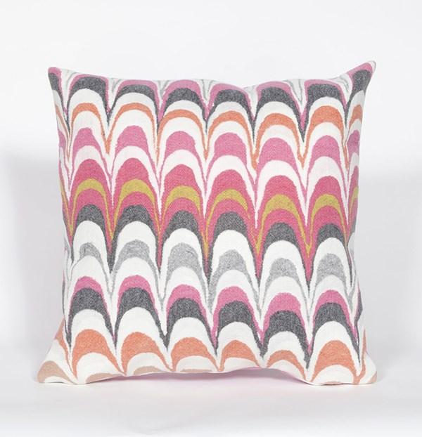 Orange, Grey, Purple Sage, White (3419-37) Transitional pillow