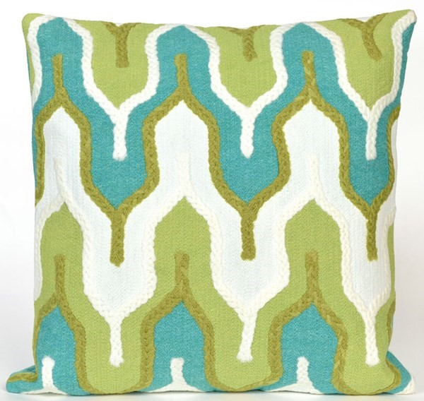 Green, Blue, Gold (4197-06) Outdoor / Indoor pillow