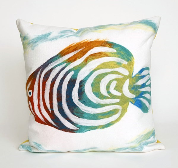 Green, Blue, Ivory, Pink (4152-12) Beach / Nautical pillow