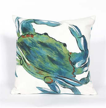 Visions III Pillows Blue Crab arearugs