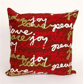 Visions III Pillows Peace Love Joy pillow