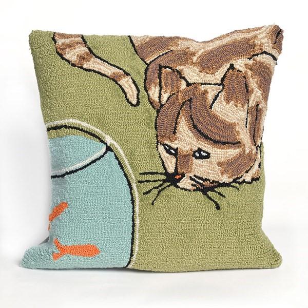 Green, Black, Blue, Brown, Orange (1430-06) Animals / Animal Skins pillow