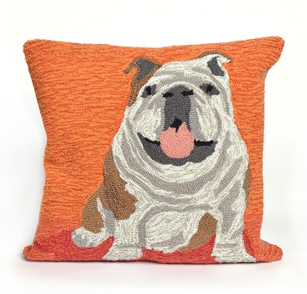 Orange, Brown, Grey, White (1567-17) Outdoor / Indoor pillow