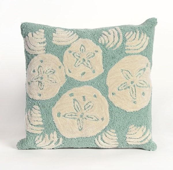 Aqua, Ivory (1408-04) Outdoor / Indoor pillow