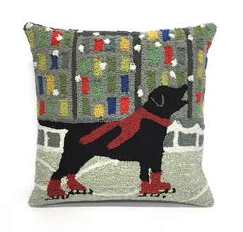 Front Porch Pillows Holiday Ice Dog pillow