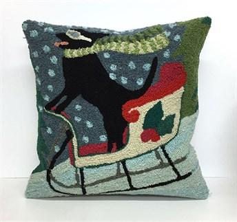 Front Porch Pillows Sledding Dog pillow
