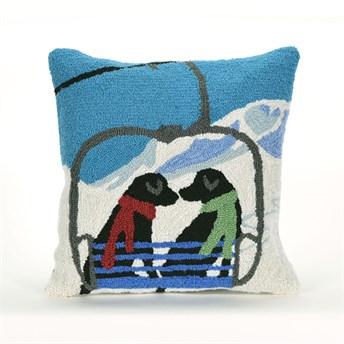 Front Porch Pillows Ski Lift Love pillow