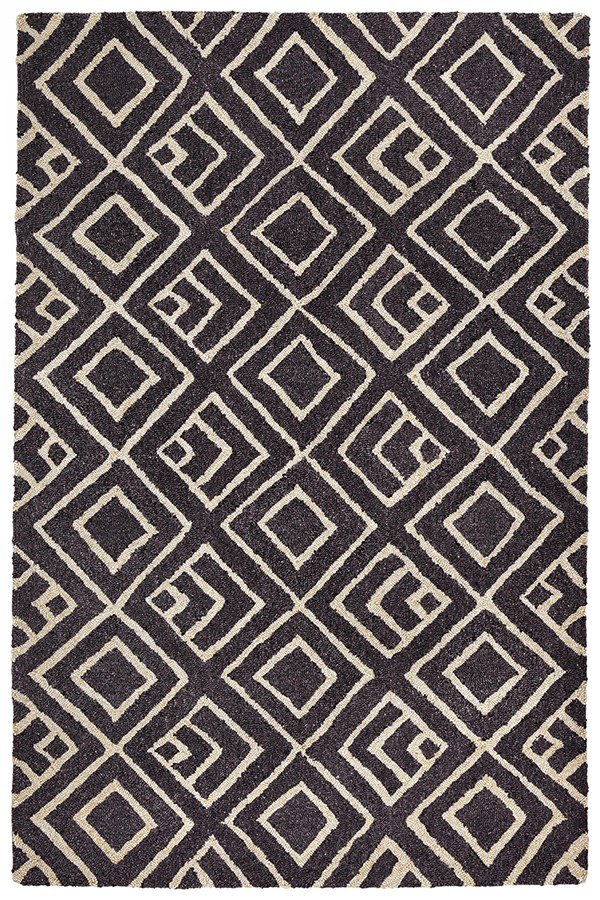 Charcoal (6853-48) Contemporary / Modern Area Rug