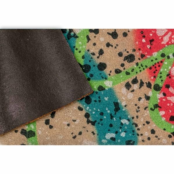 Natural, Teal, Pink (2216-44) Outdoor / Indoor Area Rug