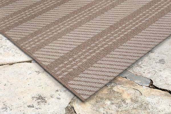 Beige (7306-12) Outdoor / Indoor Area Rug