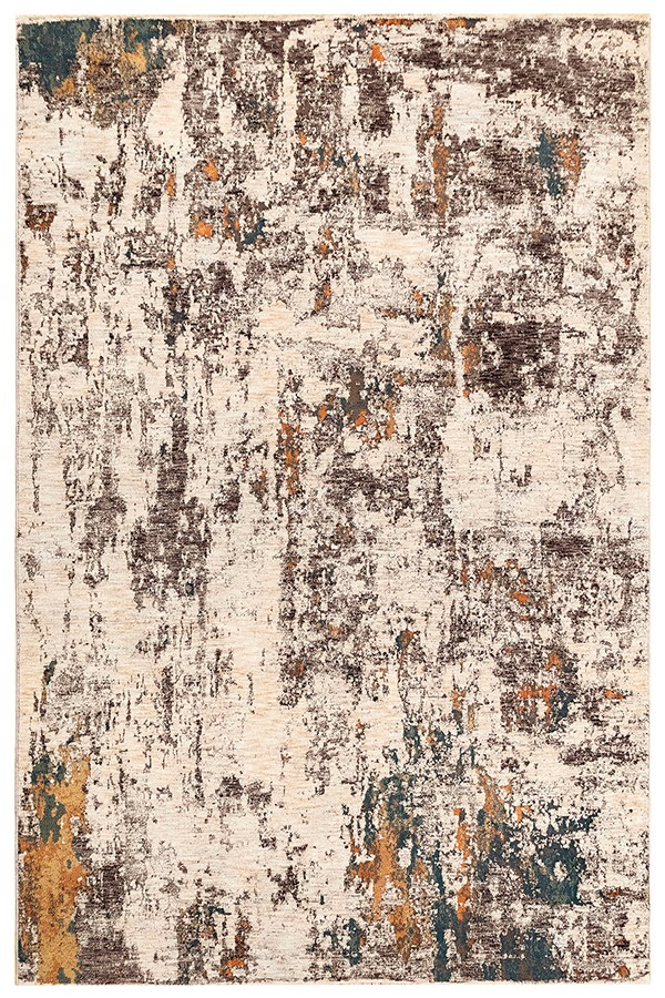 Beige, Ivory (7013-44) Abstract Area Rug