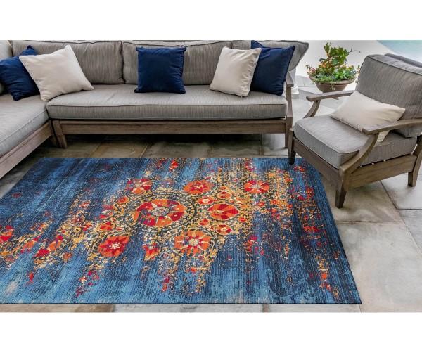 Blue (8046-03) Outdoor / Indoor Area Rug