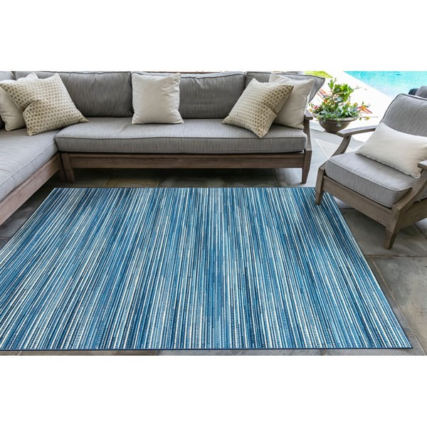 China Blue (8052-03) Outdoor / Indoor Area Rug