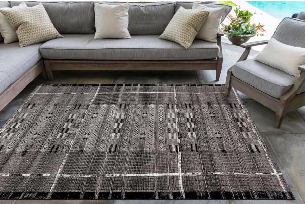 Black (8057-48) Outdoor / Indoor Area Rug
