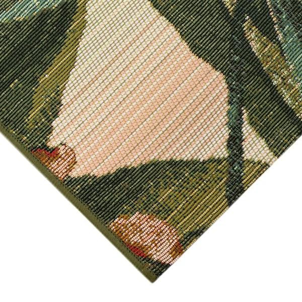 Cream, Green (8064-12) Outdoor / Indoor Area Rug