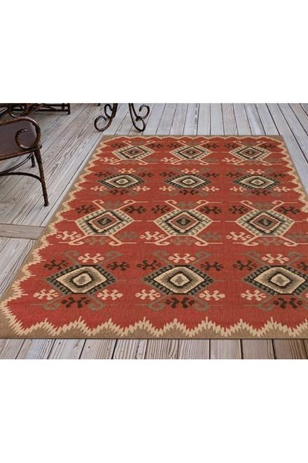 Red (7645-24) Outdoor / Indoor Area Rug