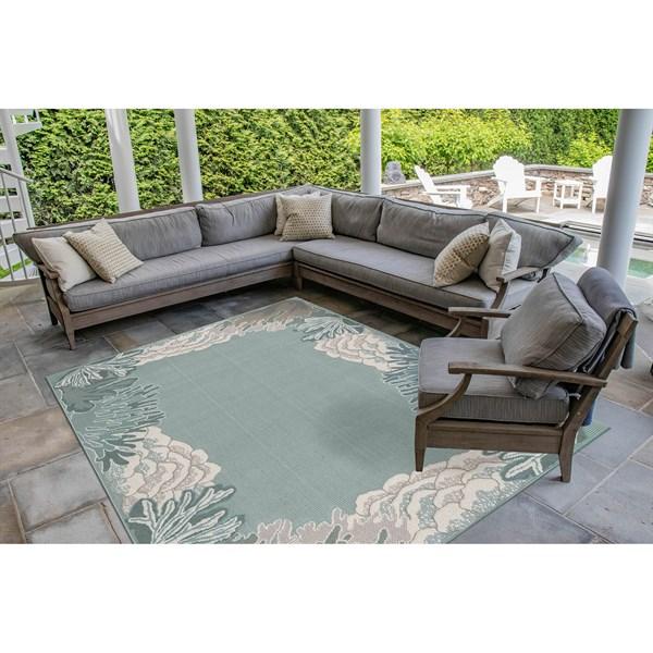 Aqua (7638-94) Outdoor / Indoor Area Rug