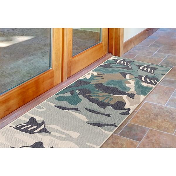 Teal (7652-04) Outdoor / Indoor Area Rug