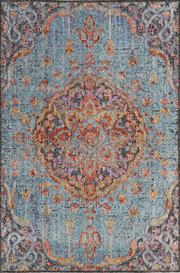 Aqua, Blue (04) Bohemian Area Rug