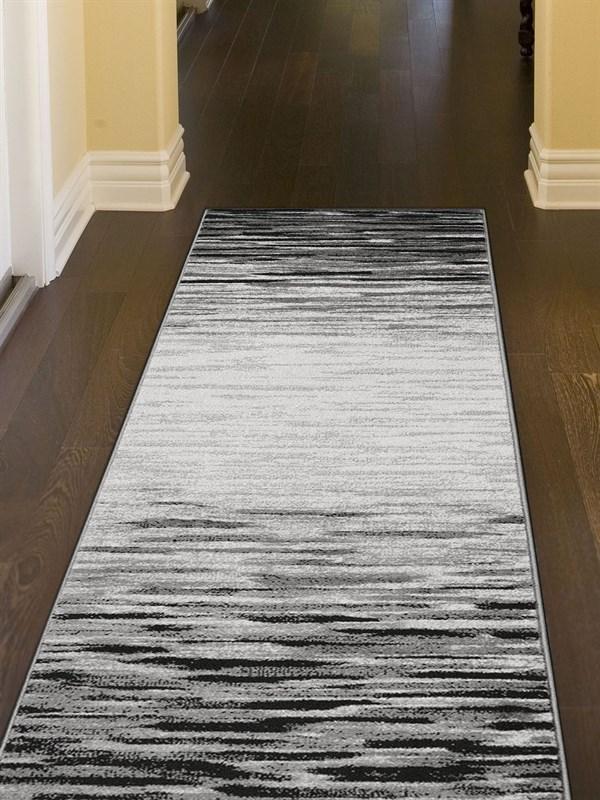 Black, Grey (7319-48) Abstract Area Rug