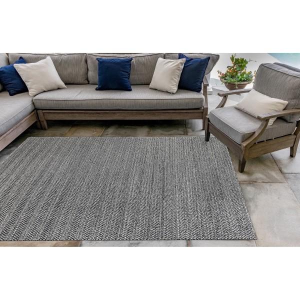 Charcoal (6535-47) Outdoor / Indoor Area Rug