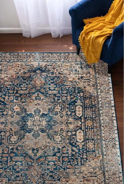 Blue (03) Vintage / Overdyed Area Rug