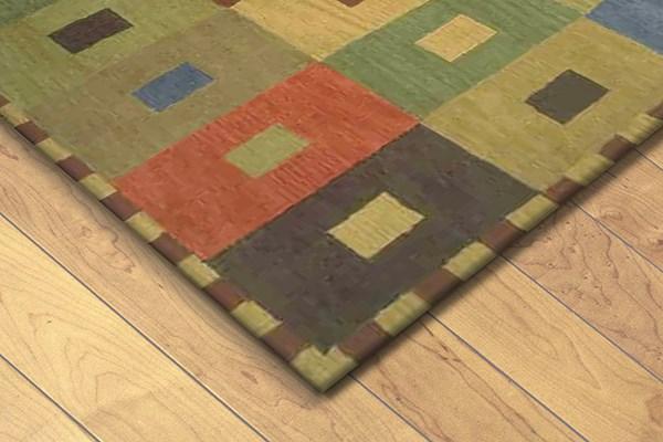 Gold, Green (9440-44) Contemporary / Modern Area Rug