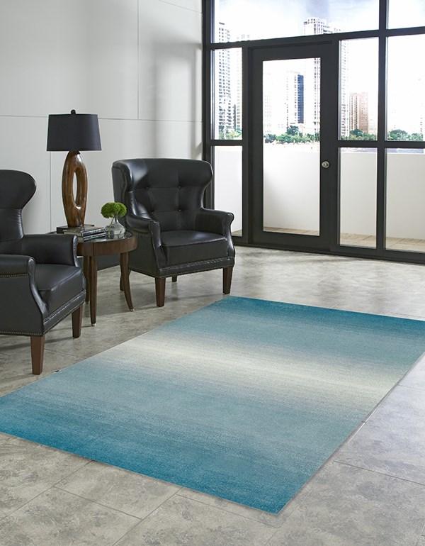 Aqua (9663-04) Contemporary / Modern Area Rug