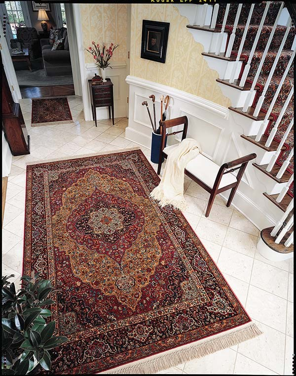 Indigo Blue (718) Traditional / Oriental Area Rug