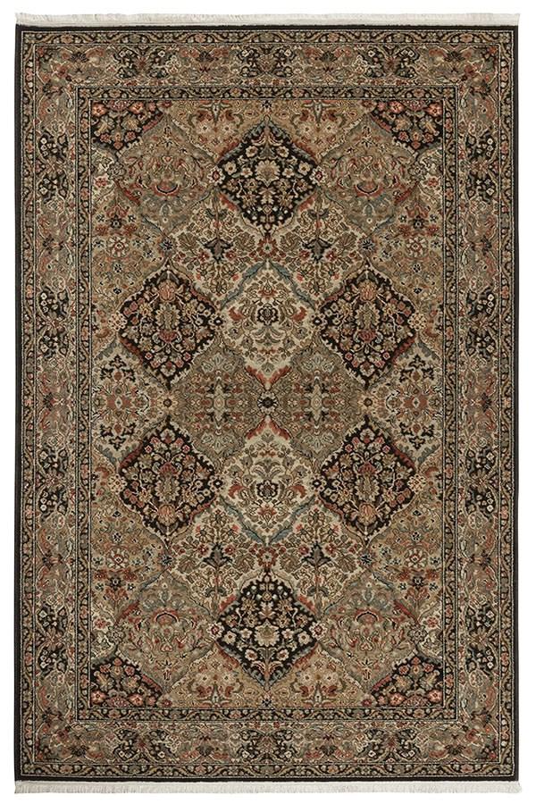 Black (724) Traditional / Oriental Area Rug