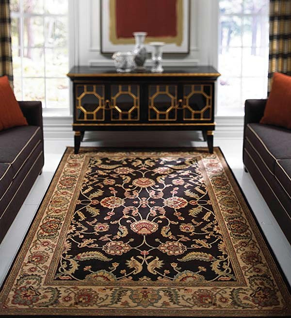 Black (15006) Traditional / Oriental Area Rug