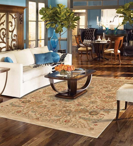 Ivory, Beige (16006) Traditional / Oriental Area Rug
