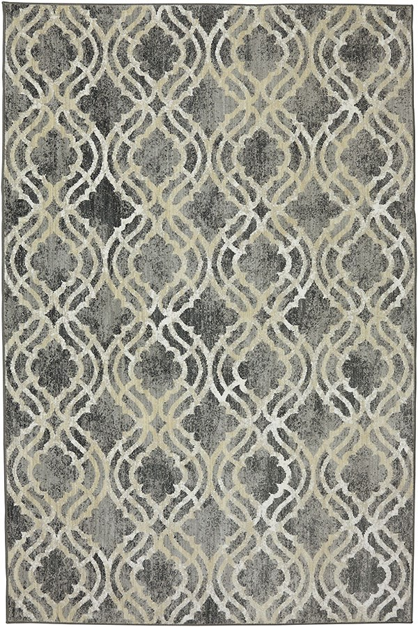 Ash Grey, Slate, Cream (90274-5913) Moroccan Area Rug