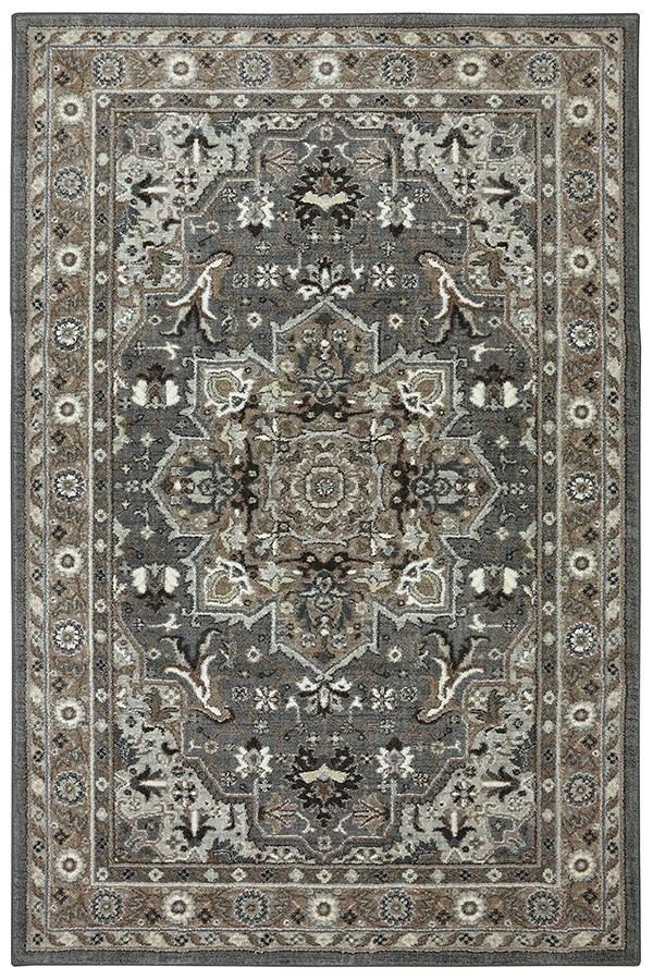 Ash Grey, Brown, Black (90272-5913) Traditional / Oriental Area Rug