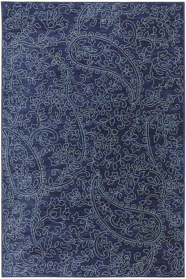 Indigo, Aqua, Gray (90487-50102) Paisley Area Rug