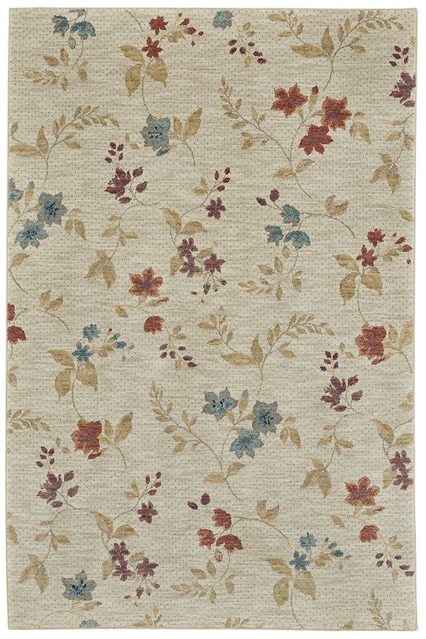 Ivory, Red (90573-99999) Floral / Botanical Area Rug