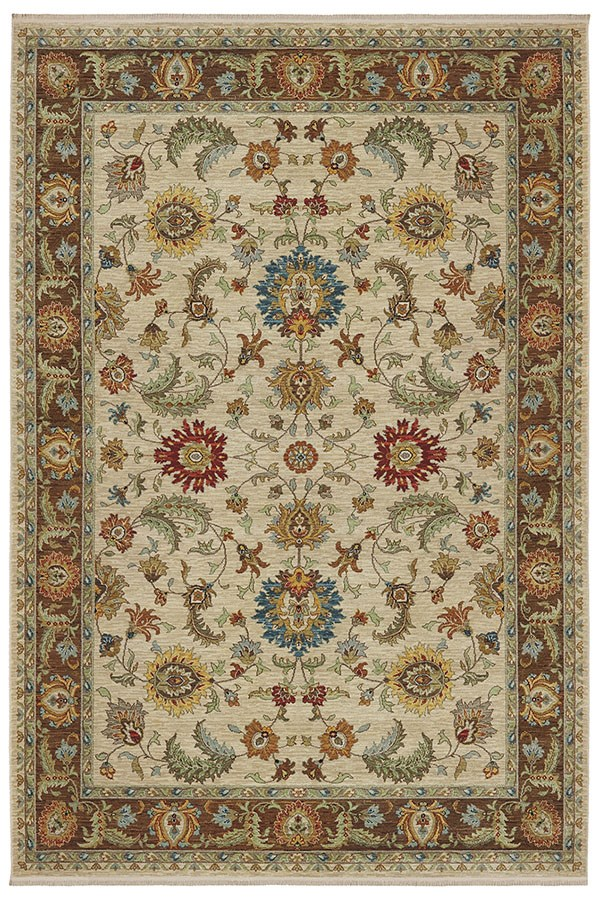 Beige, Yellow, Red, Blue (00990-14602) Traditional / Oriental Area Rug