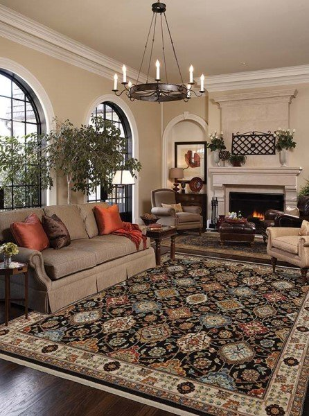 Black, Blue, Red, Tan (00990-14604) Traditional / Oriental Area Rug
