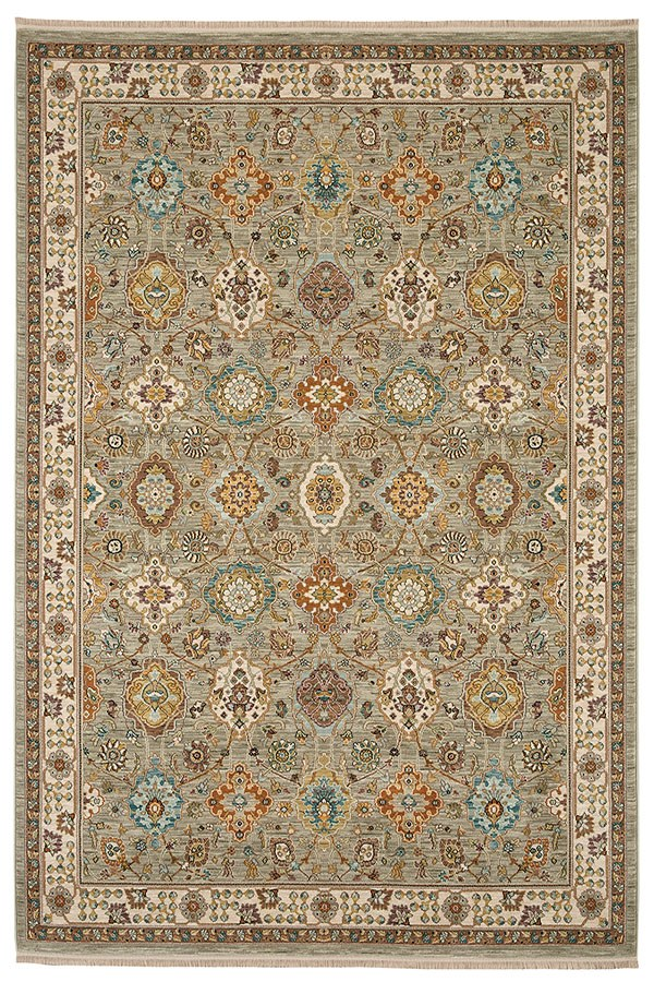 Gray, Blue, Brown (00990-14605) Traditional / Oriental Area Rug